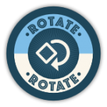 Blocks Away Badge for Rotate